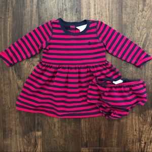 Ralph Lauren Striped Baby Girl Dress
